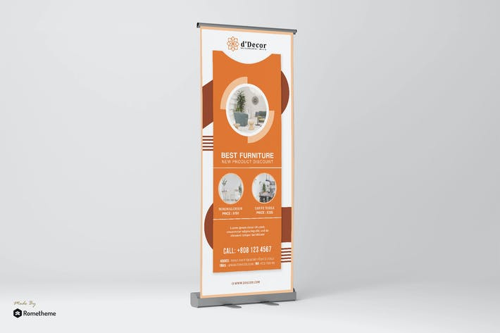 Cover Image For d'Decor - Interior and Furniture Roll up Banner HR