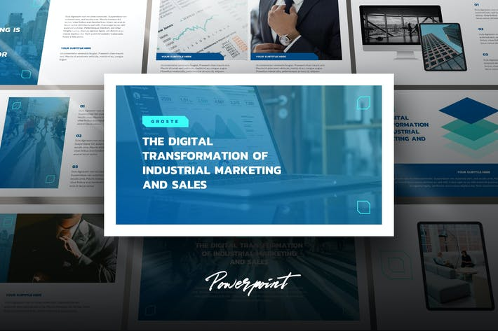 Thumbnail for Groste - Company Profile Powerpoint Template