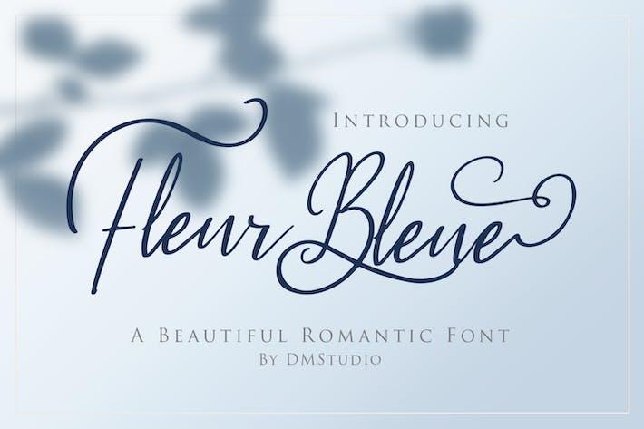 Fleur Bleue - Belle police romantique
