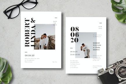 Simple Wedding Invitation 14
