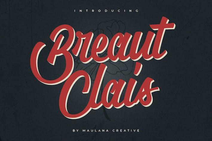 Thumbnail for Breaut Clais Vintage Script Font