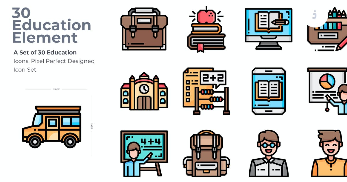 Download 30 Education Icons by Justicon
