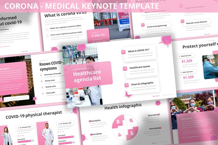 Thumbnail for Corona - Medical Keynote Template