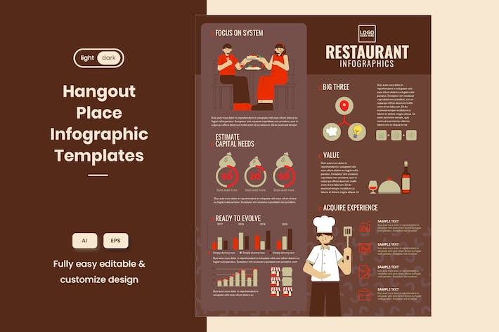 Thumbnail for Cool Infographic Examples for Restaurant