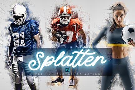 Art Splatter Photoshop Action