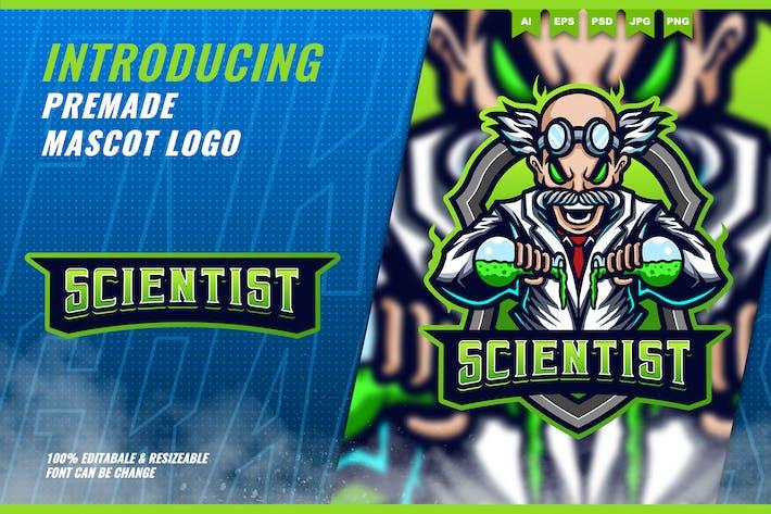 Mad Scientist - Mascot Esport Logo Template