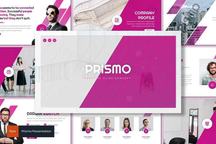 Prismo Creative Powerpoint Template by inspirasign on
