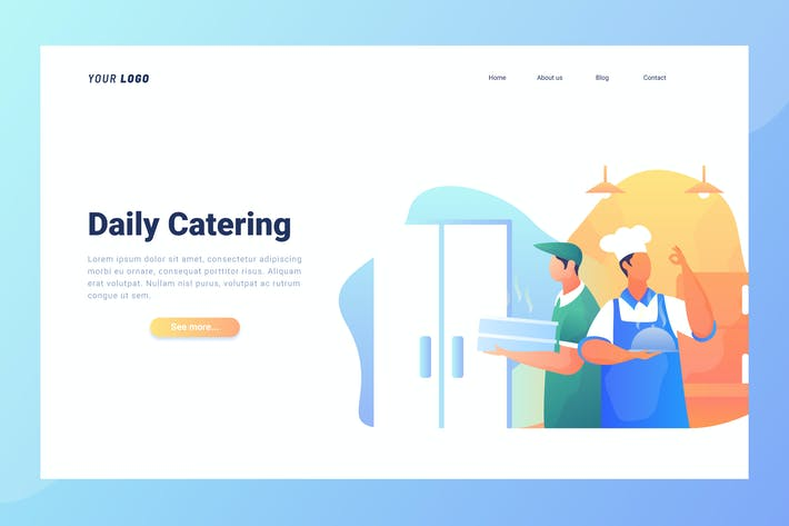 Thumbnail for Daily Catering - Landing Page