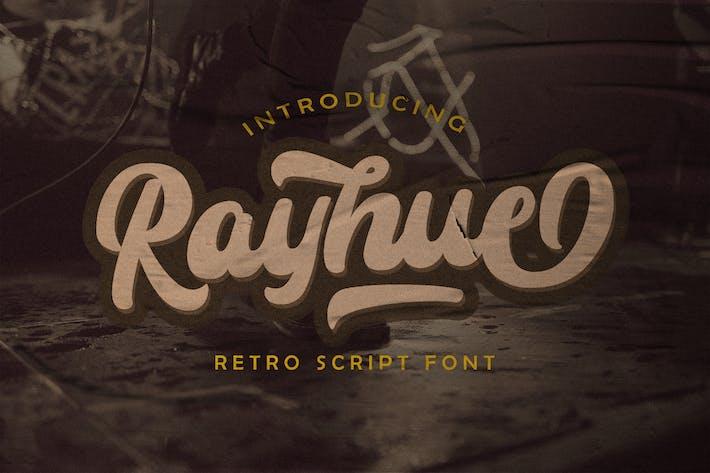 Thumbnail for Rayhue - Retro Bold Script Font