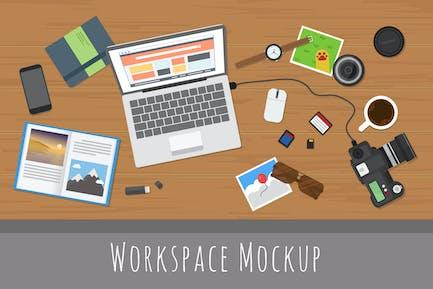 Hero Workspace Mockup