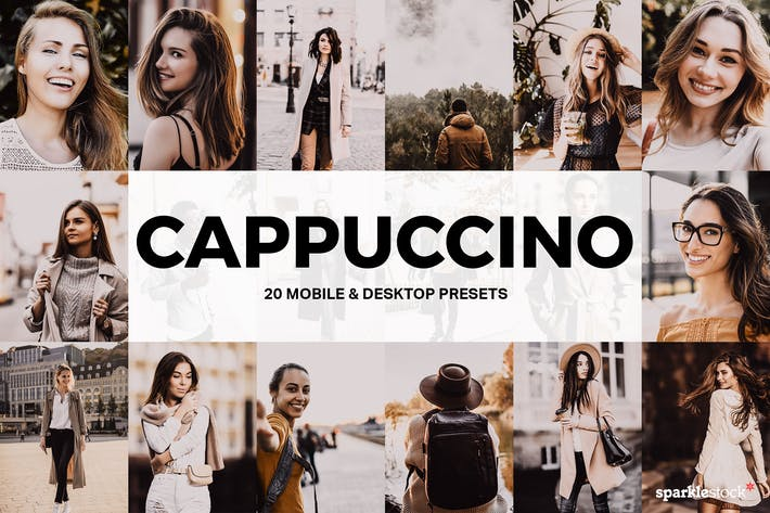 Thumbnail for 20 Cappuccino Lightroom Presets and LUTs