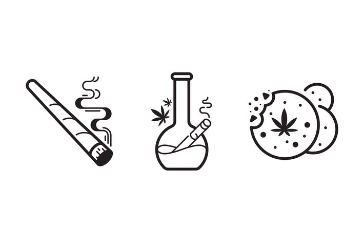 Cannabis icon set