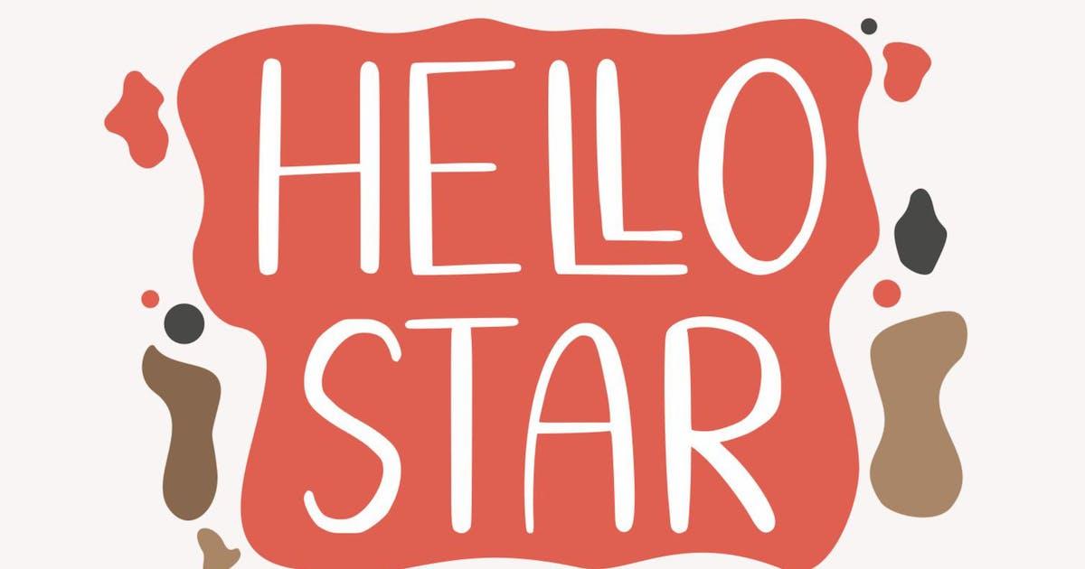 Download Hello Star GJ - Hand Draw Font by GranzCreative