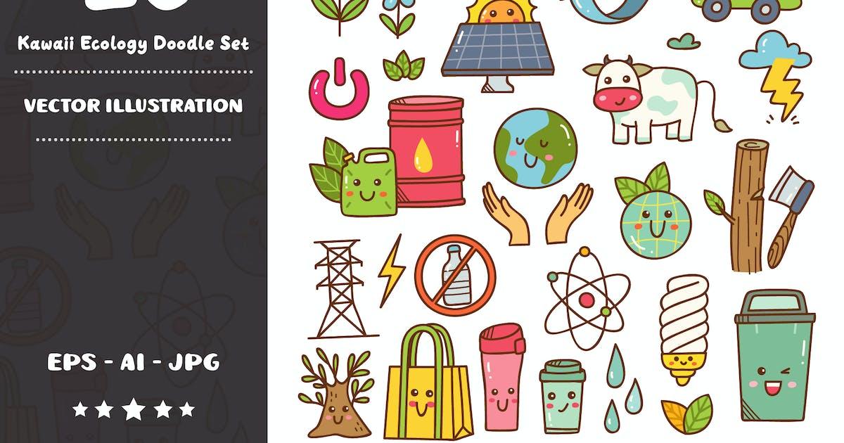 Download Kawaii Ecology Doodle Set by GoDoodle