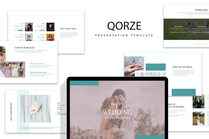 Thumbnail for Qorze : Wedding Planner Google Slides