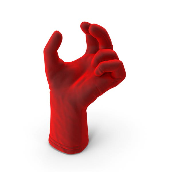 Glove Velvet Upwards Object Hold Pose