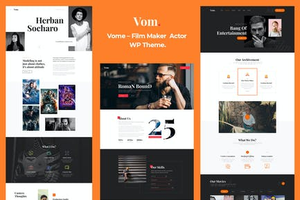 Vome - Film Studio Movie Producti  WordPress Theme