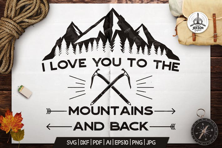 Thumbnail for Mountain Adventure Badge, Vintage Camp Logo Patch