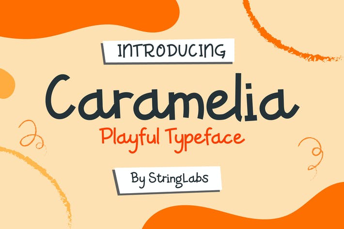 Thumbnail for Caramelia - Juguetón Niños Tipo de letra