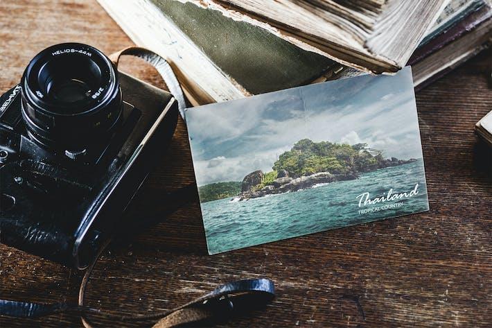 Thumbnail for 4 Vintage Postcard Mock-up