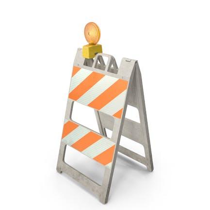 Barricade Warning Light Dirt