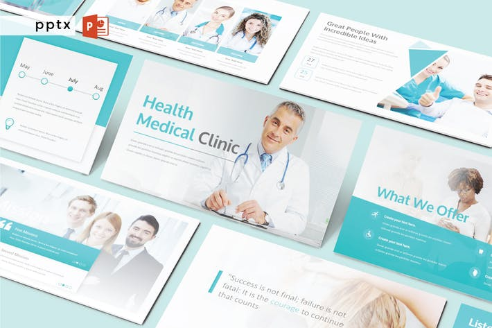 HEALTH MEDICAL CLINIC - Powerpoint  V254