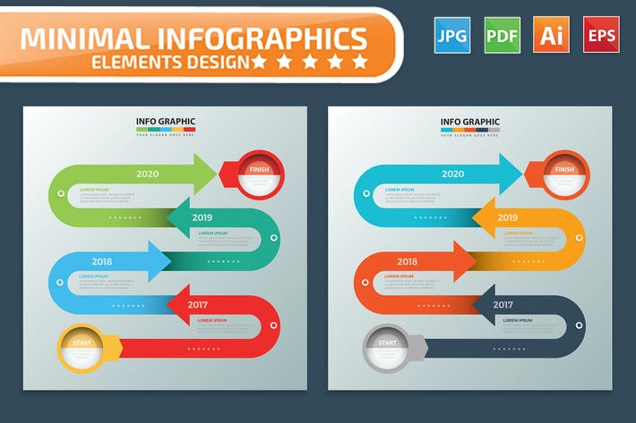 Thumbnail for Timeline Infographic Design