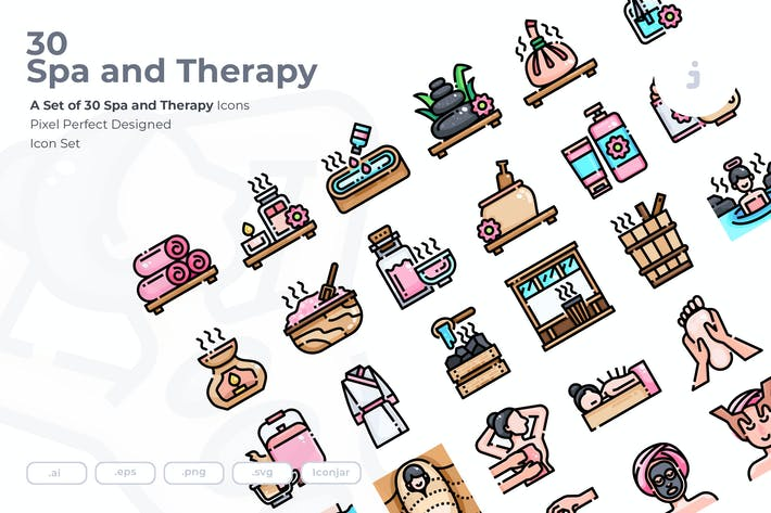 Thumbnail for 30 Spa and therapy Icons