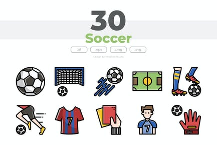 30 Soccer Icons