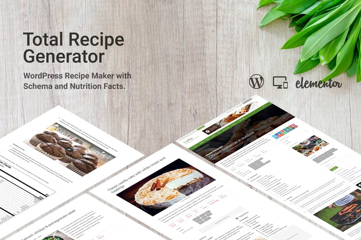 Thumbnail for Total Recipe Generator for Elementor