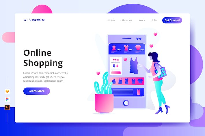 Thumbnail for Online Shopping - Landing Page