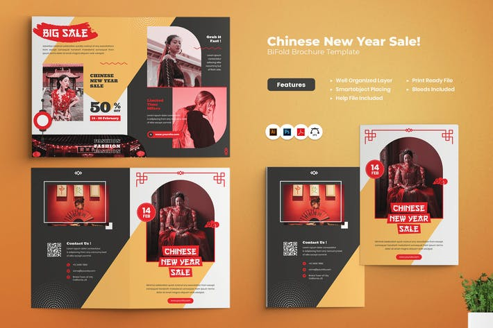 Thumbnail for Chinese New Year Sale Bifold Brochure