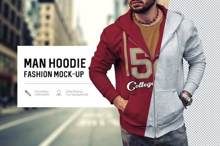Thumbnail for Man Hoodie Fashion Mock-Up
