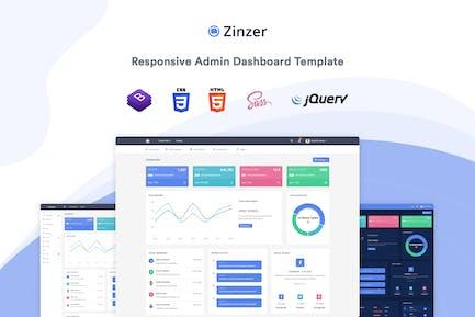Zinzer - Admin Dashboard Template