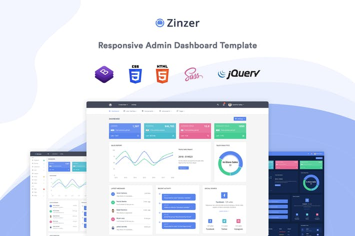Thumbnail for Zinzer - Admin Dashboard Template