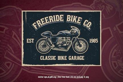 vintage motorcycle garage sign
