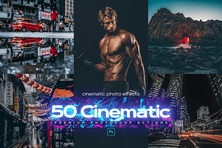 Thumbnail for 50 Cinematic Photoshop Actions
