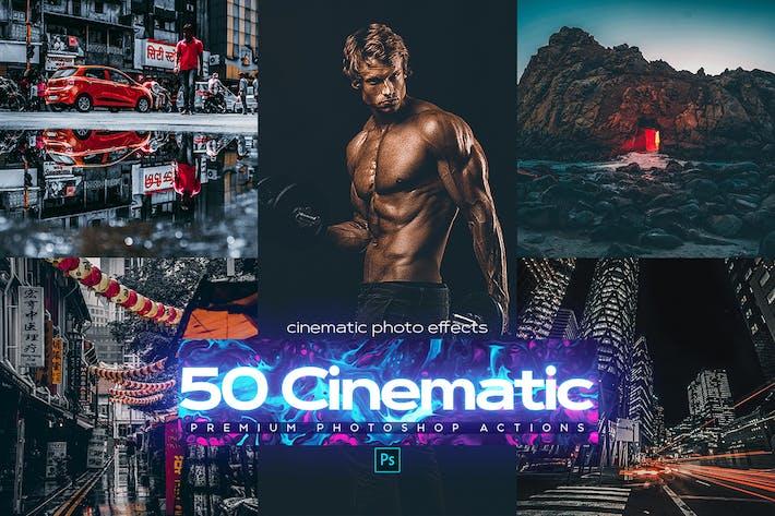 Thumbnail for 50 Кинематографическая действий Photoshop