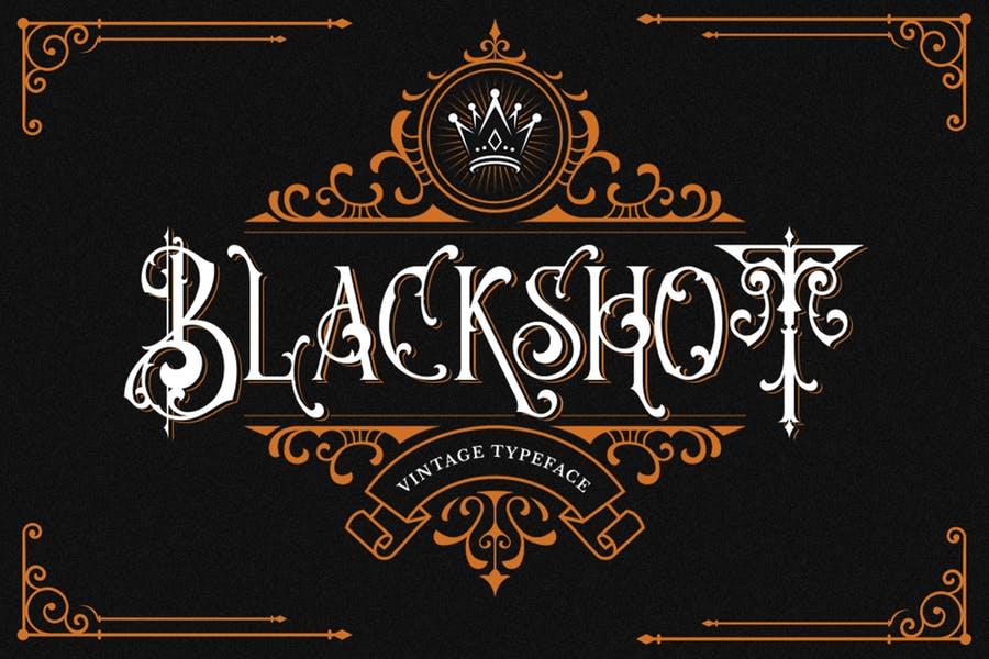 Blackshot - Шрифт Черного письма