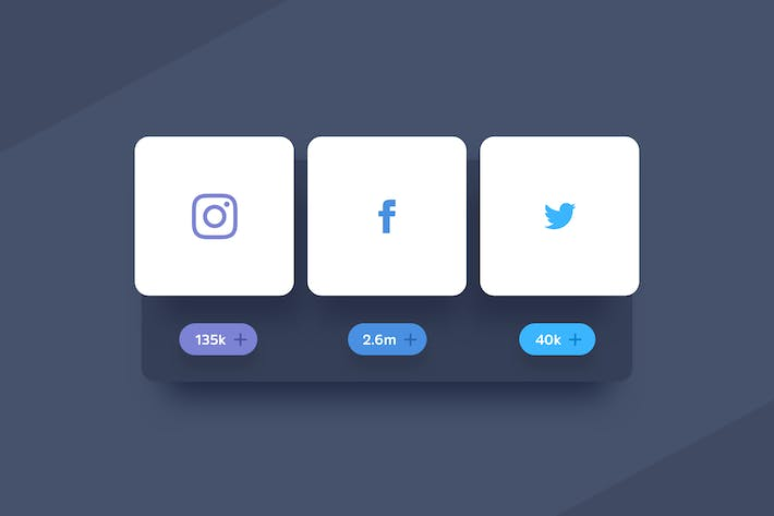 Thumbnail for 3 Sharing Social Buttons