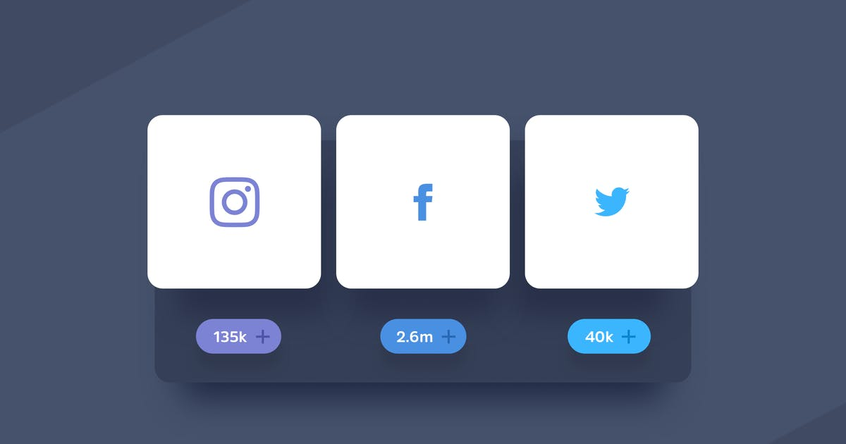 Download 3 Sharing Social Buttons by Unknow