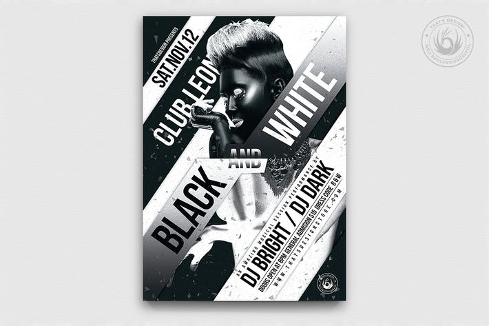 Thumbnail for Black and White Party Flyer Template