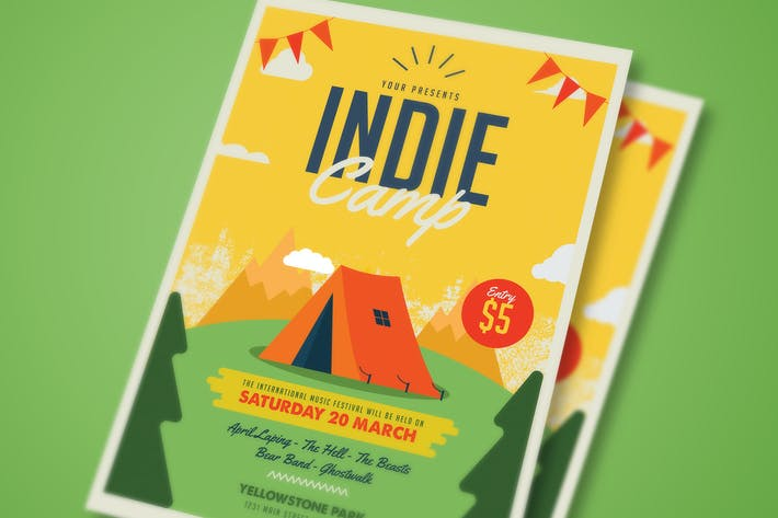 Thumbnail for Indie Camp flyer