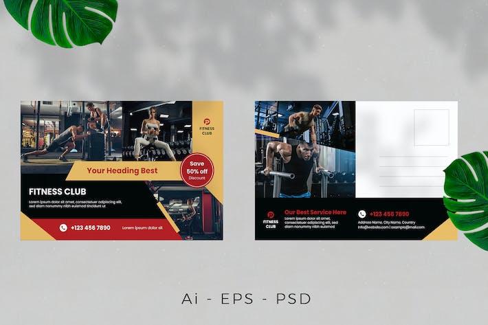 Thumbnail for Fitness Postcard Design