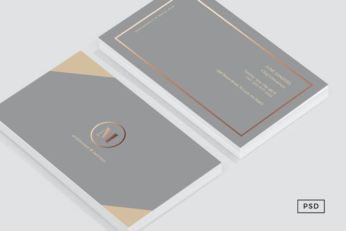 Thumbnail for Formal Business Card Template