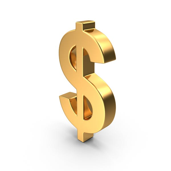Знак доллара Золото