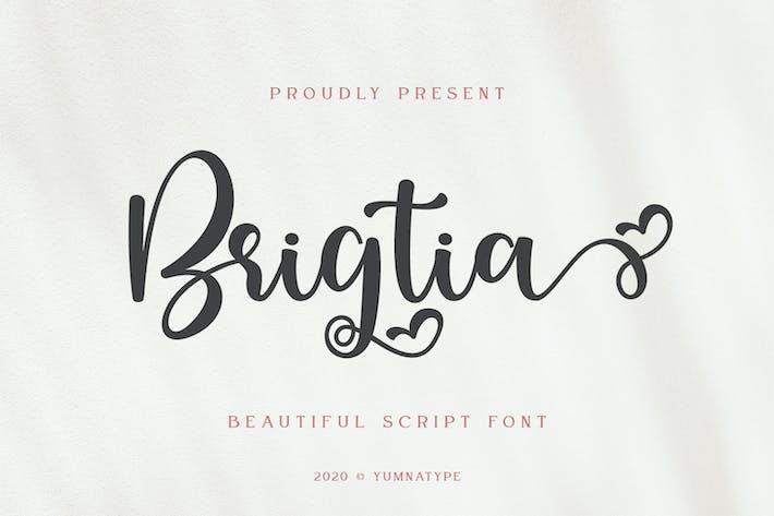Tipo de letra de script de Brigtia