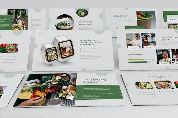 Шаблон презентации Keynote Saladslice