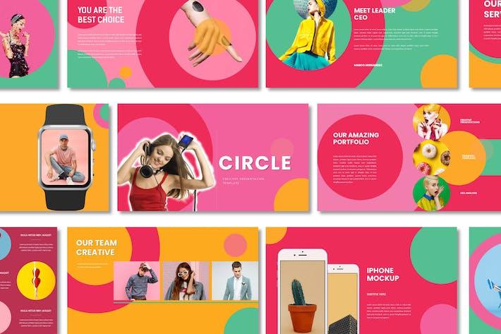 Thumbnail for Circle Creative Google Slides