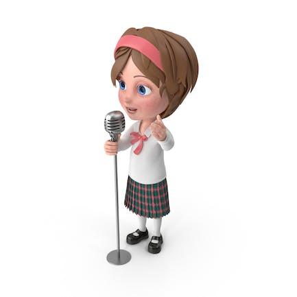 Cartoon Mädchen Meghan Gesang